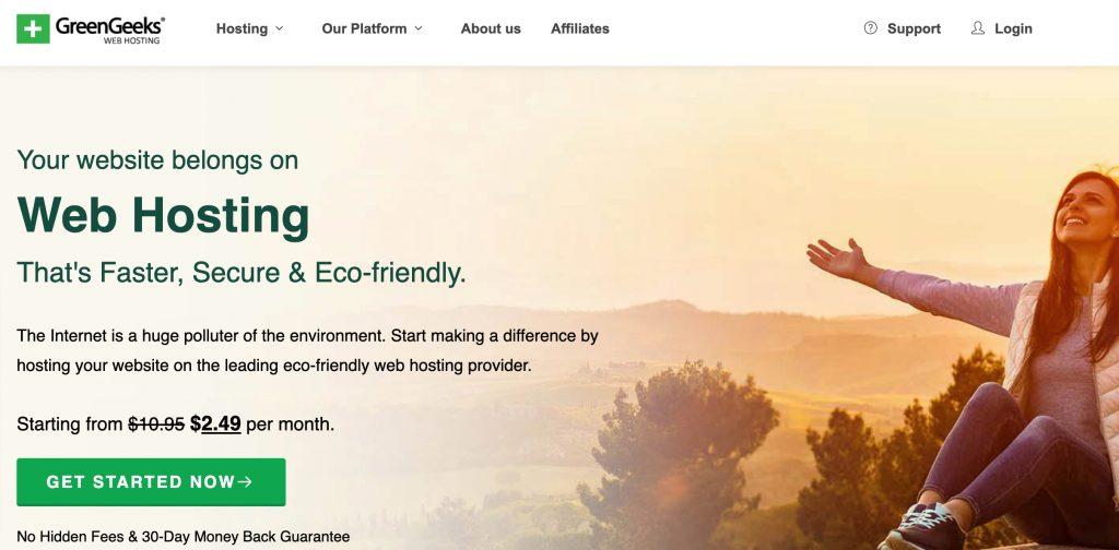GreenGeeks - SiteGround Alternatives